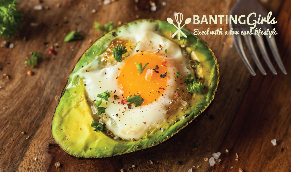 Baked avocado with egg in the hole